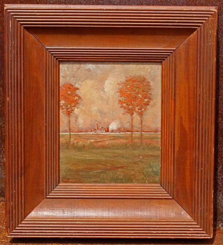 American Arts & Crafts Landscape Oil Painting For Sale
