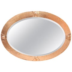 Arts & Crafts Movement Copper Mirror in the Style of Liberty & Co.