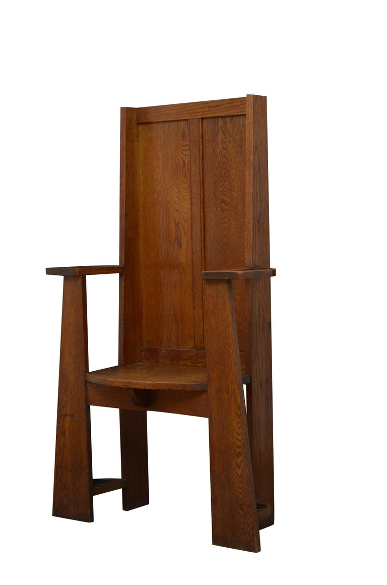 Arts and Crafts Arts & Crafts Oak Hall Seat For Sale