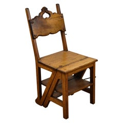 Arts & Crafts Oak Metamorphic Chair/steps