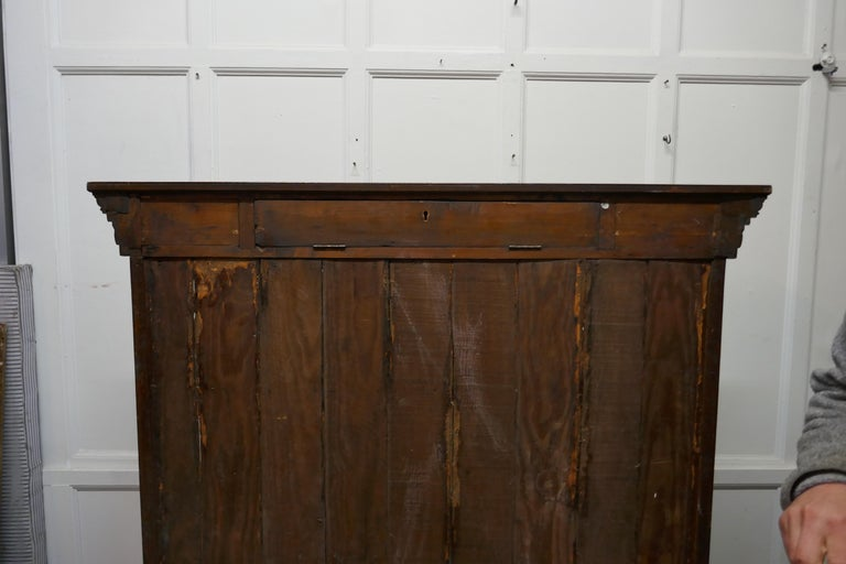 Arts and Crafts Open Oak Bookcase with Secret Compartment For Sale 1
