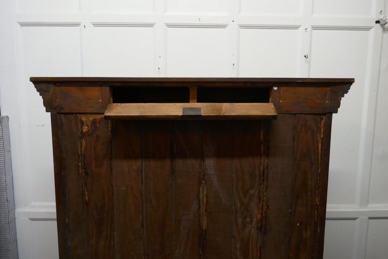 Arts and Crafts Open Oak Bookcase with Secret Compartment For Sale 2