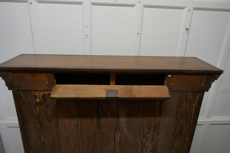 Arts and Crafts Open Oak Bookcase with Secret Compartment For Sale 3