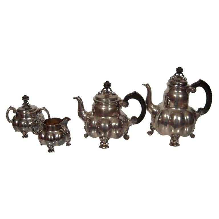 Arts and Crafts Period Silver Tea and Coffee Service  For Sale