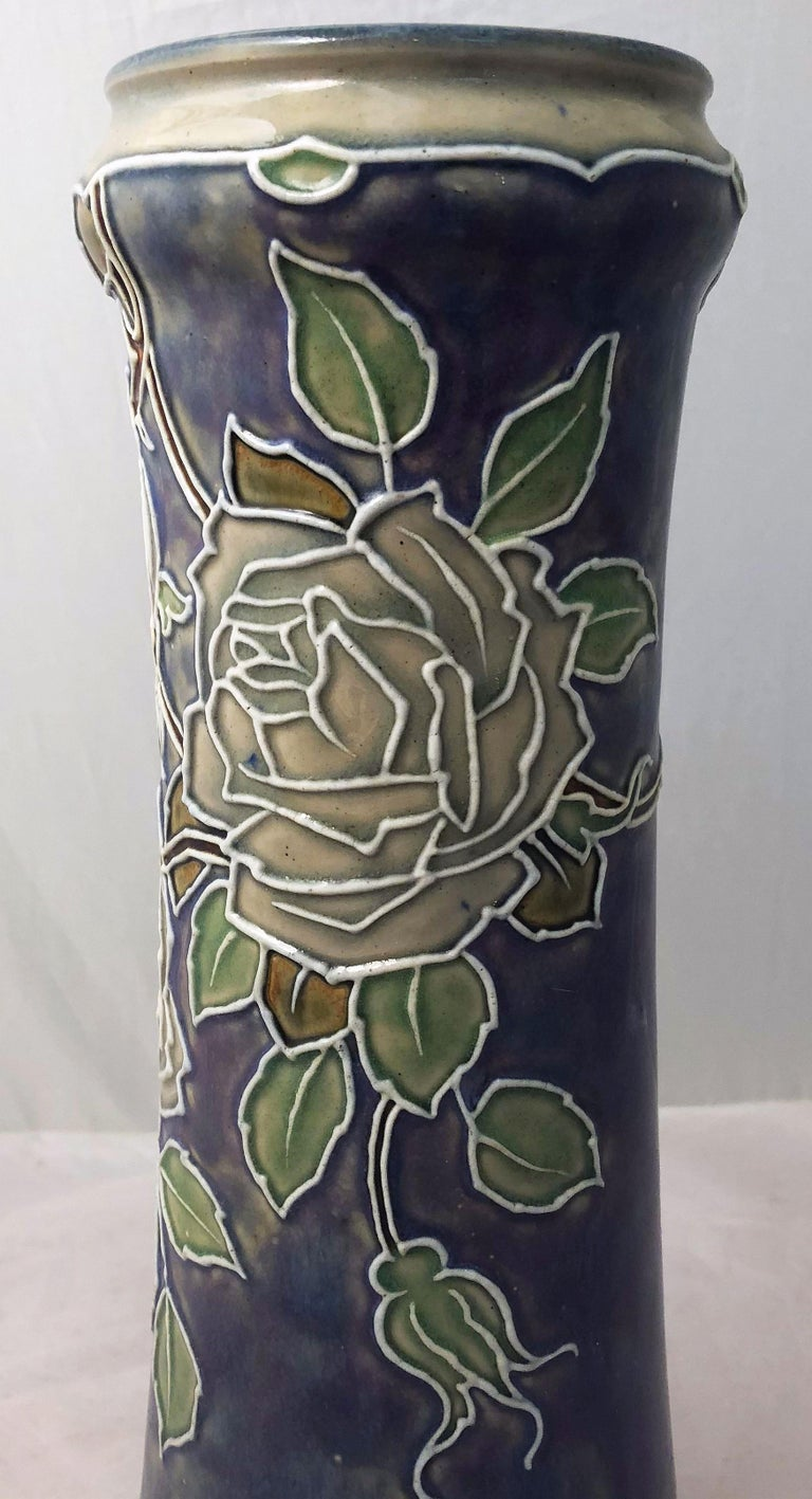 Pair of Royal Doulton Vases from the Arts & Crafts Period, 'Priced as a Pair' For Sale 2