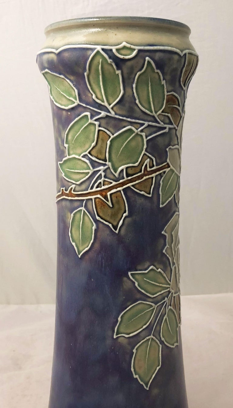 Pair of Royal Doulton Vases from the Arts & Crafts Period, 'Priced as a Pair' For Sale 3