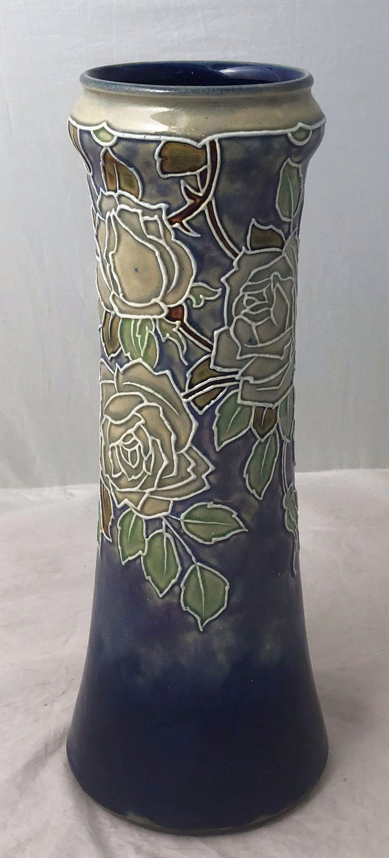 Pair of Royal Doulton Vases from the Arts & Crafts Period, 'Priced as a Pair' In Good Condition For Sale In Austin, TX