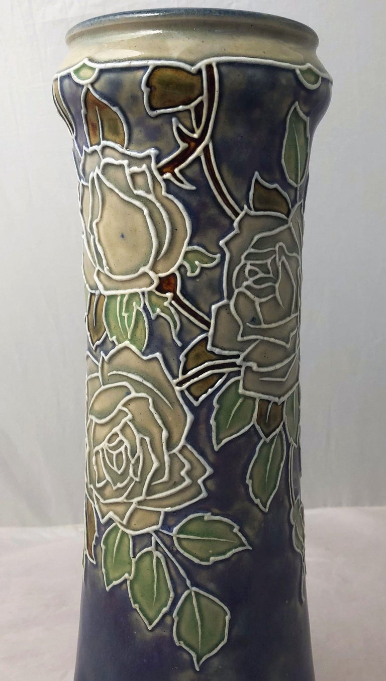 Pair of Royal Doulton Vases from the Arts & Crafts Period, 'Priced as a Pair' For Sale 1