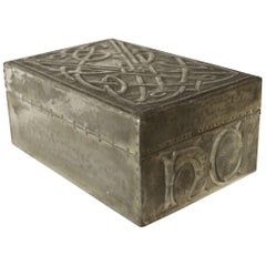 Arts & Crafts Repousse Pewter Cigarette Box in the Style of Archibald Knox