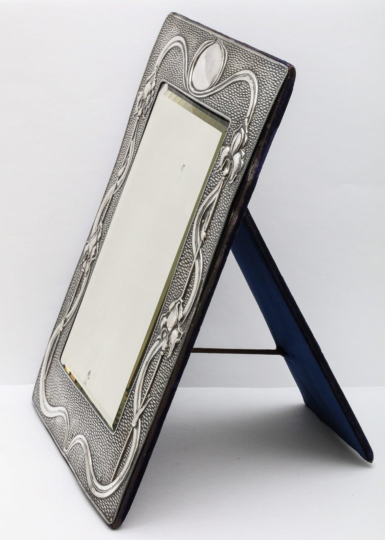 Arts & Crafts Sterling Silver-Mounted Table Mirror, by A. & J. Zimmerman For Sale 6