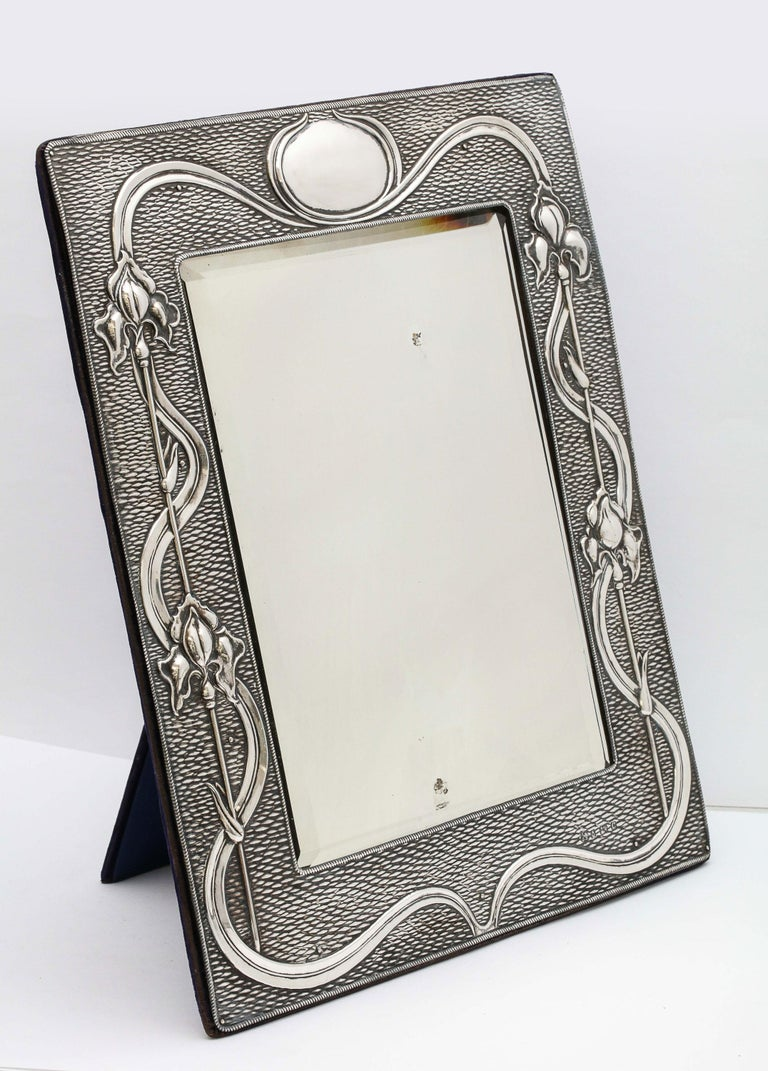 Arts & Crafts Sterling Silver-Mounted Table Mirror, by A. & J. Zimmerman For Sale 9