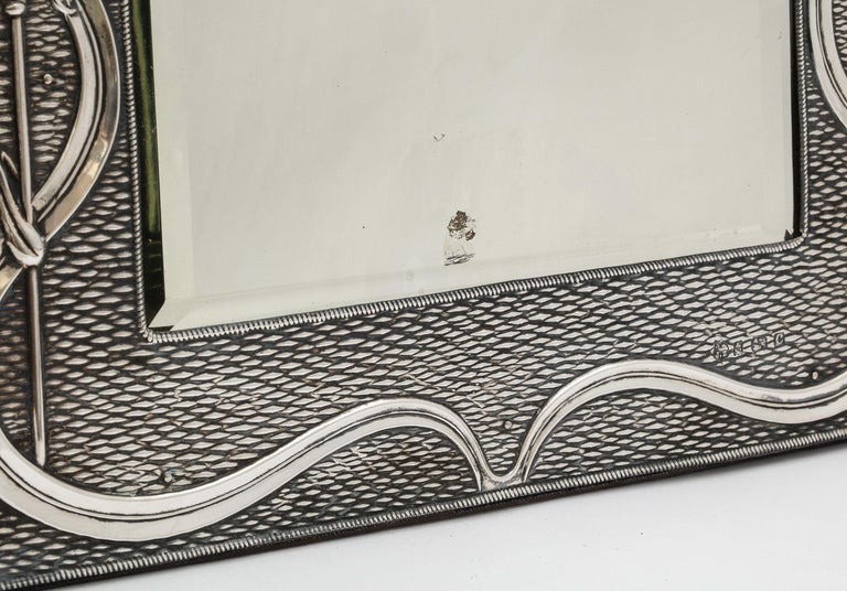 Arts & Crafts Sterling Silver-Mounted Table Mirror, by A. & J. Zimmerman For Sale 12