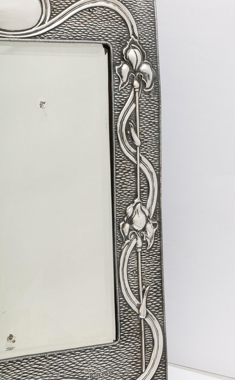 Arts & Crafts Sterling Silver-Mounted Table Mirror, by A. & J. Zimmerman For Sale 13