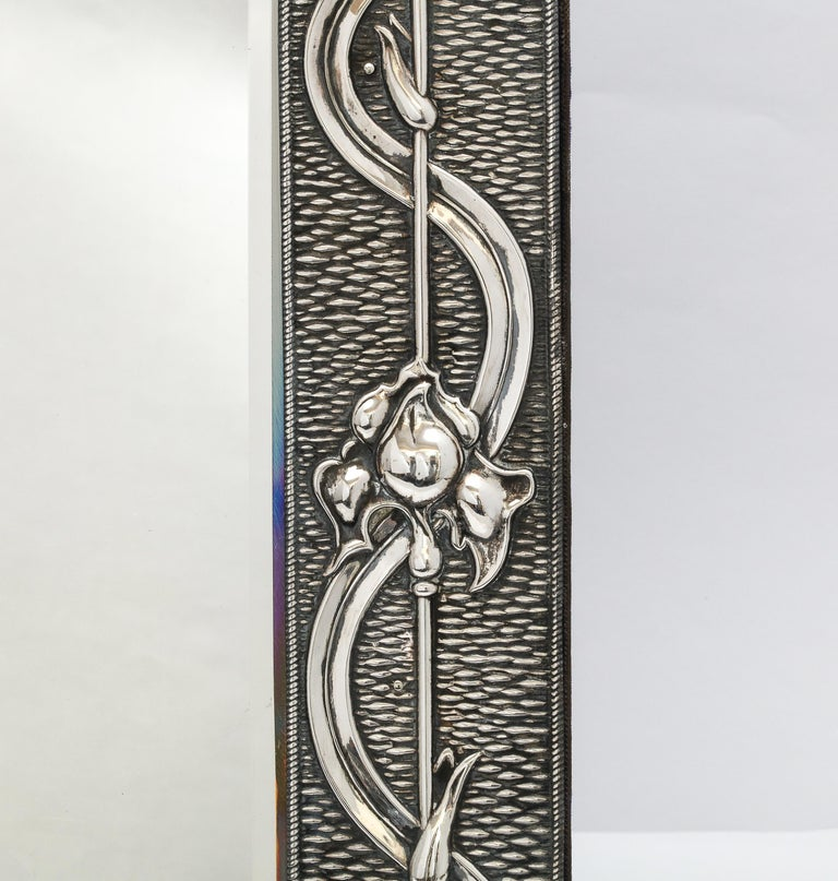 Arts & Crafts Sterling Silver-Mounted Table Mirror, by A. & J. Zimmerman For Sale 1