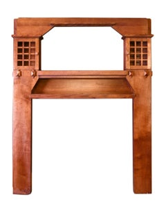 Arts & Crafts Walnut Fireplace Mantel