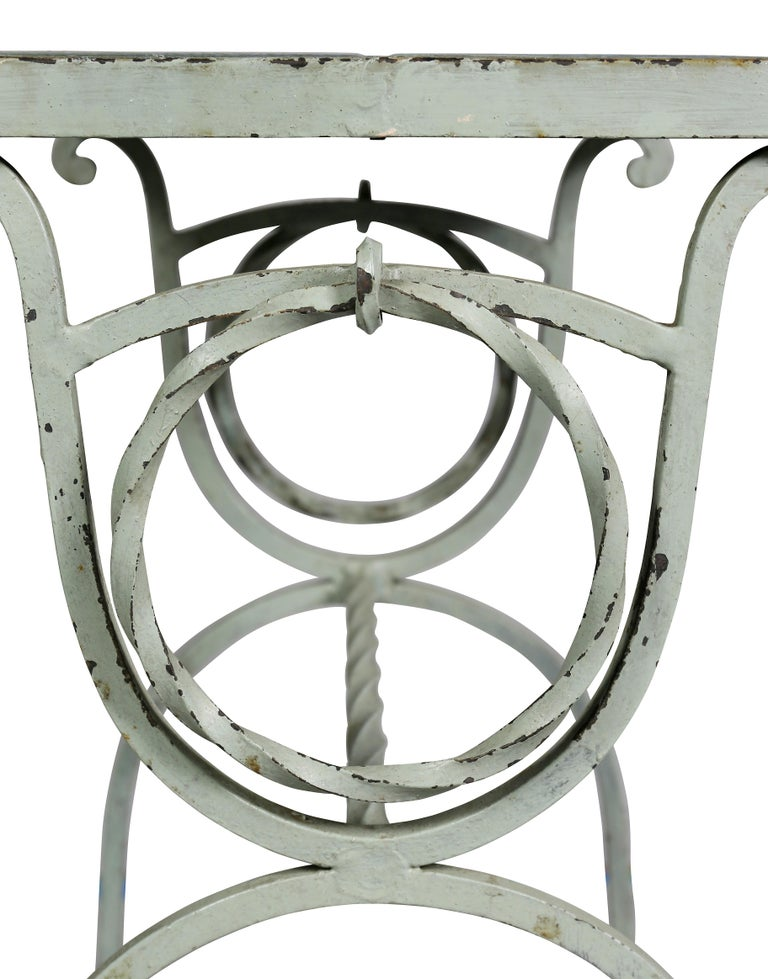 Arts & Crafts Wrought Iron and Tile Top Side table For Sale 1
