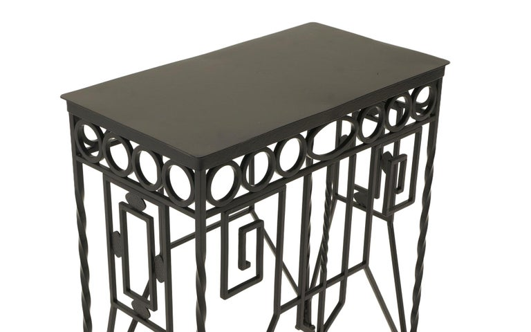 Arts and Crafts Arts & Crafts Wrought Iron Table, Use as Hall, Sofa, or Serving Table For Sale