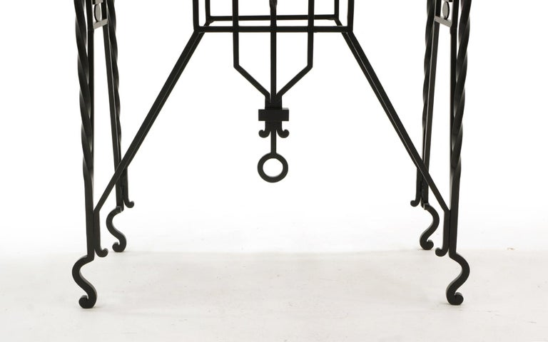 American Arts & Crafts Wrought Iron Table, Use as Hall, Sofa, or Serving Table For Sale