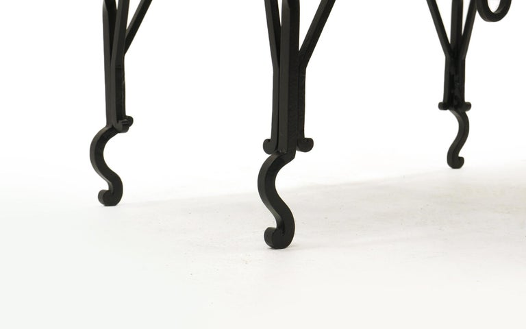 Arts & Crafts Wrought Iron Table, Use as Hall, Sofa, or Serving Table In Excellent Condition For Sale In Kansas City, MO