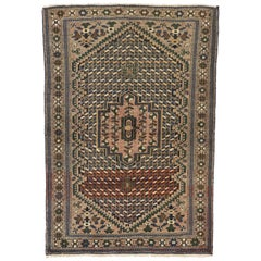 Arts & Craft Style Vintage Persian Bakhtiari Rug, Kitchen, Foyer or Entry Rug