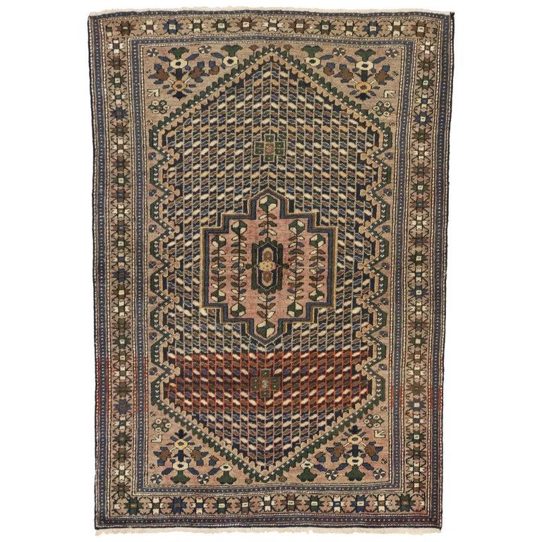 Arts And Craft Style Vintage Persian Bakhtiari Rug Kitchen Foyer