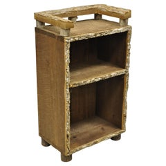 Arts & Crafts Adirondack Small Wood Tree Branch Rustic Bookcase Display Shelf