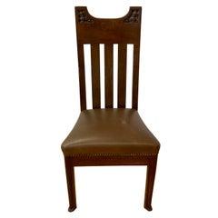 Arts & Crafts American Oak Side Chair, C.1920