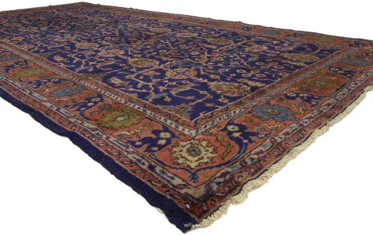 Arts and Crafts Arts & Crafts Antique Turkish Sparta Gallery Rug with Traditional Luxe Style For Sale