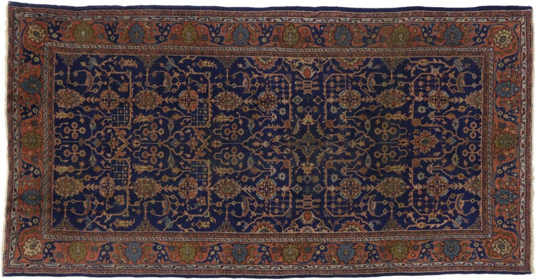 Arts & Crafts Antique Turkish Sparta Gallery Rug with Traditional Luxe Style In Good Condition For Sale In Dallas, TX