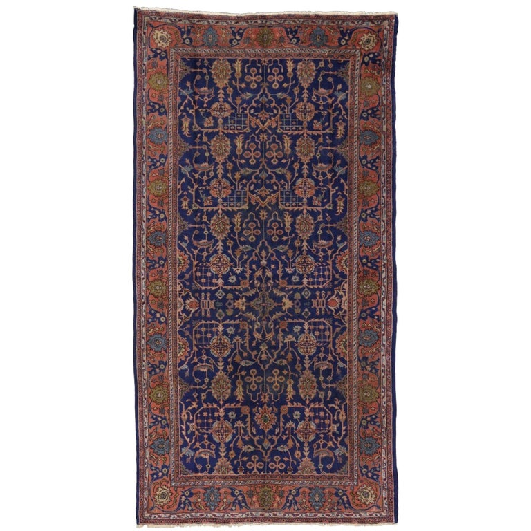 Arts & Crafts Antique Turkish Sparta Gallery Rug with Traditional Luxe Style For Sale