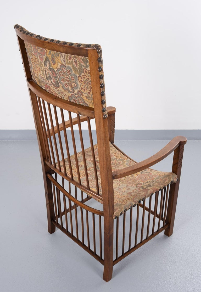 Fruitwood Arts & Crafts Armchair  For Sale