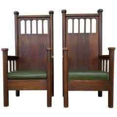 Arts & Crafts Arm Chairs, Early 1900s