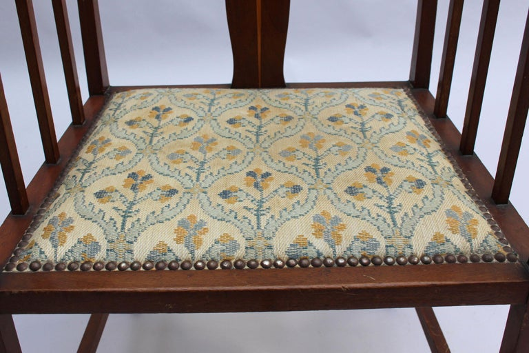Fine Arts & Crafts Armchair by G M Ellwood, Made by J S Henry For Sale 7
