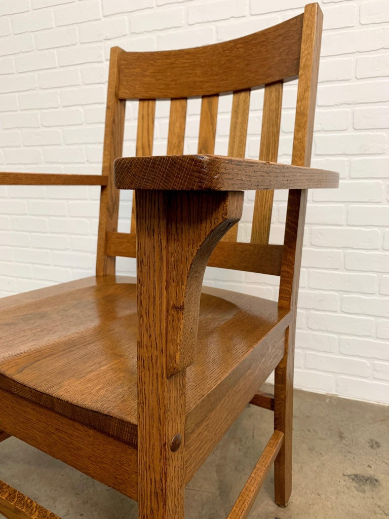 Arts & Crafts Armchair In Good Condition For Sale In Laguna Hills, CA