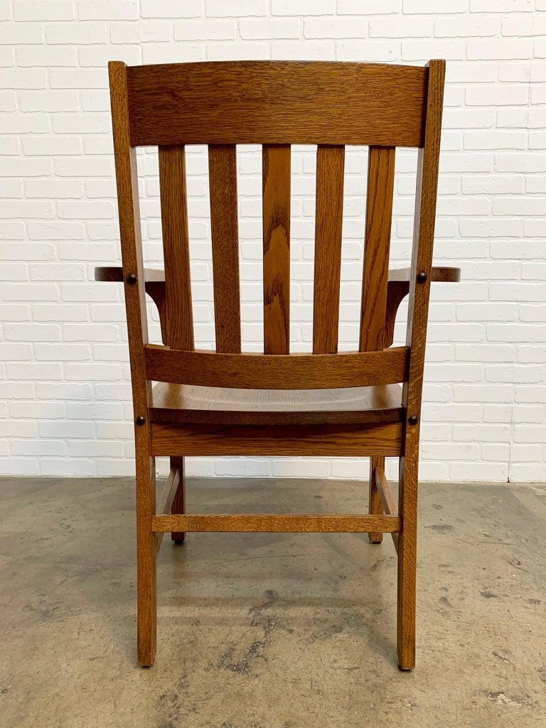 Oak Arts & Crafts Armchair For Sale