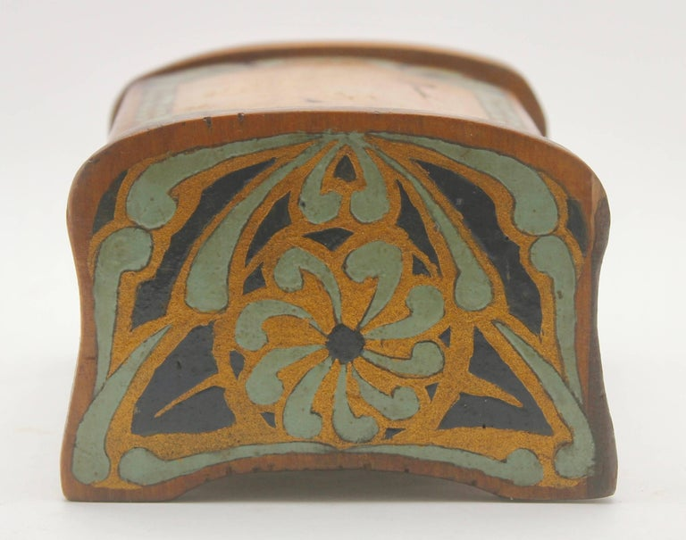 Austrian Arts & Crafts Box with Decorative Hand Painted Decor, circa 1910 For Sale