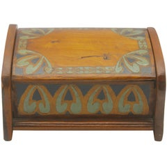 Arts & Crafts Box with Decorative Hand Painted Decor, circa 1910