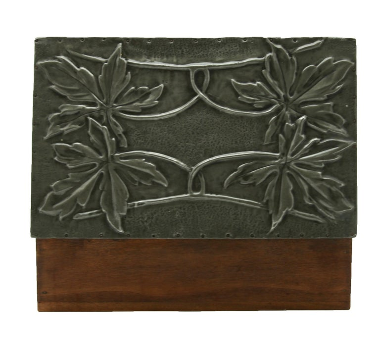 Arts and Crafts Arts & Crafts Box with Decorative Metal Work, circa 1920 For Sale