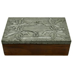 Arts & Crafts Box with Decorative Metal Work, circa 1920