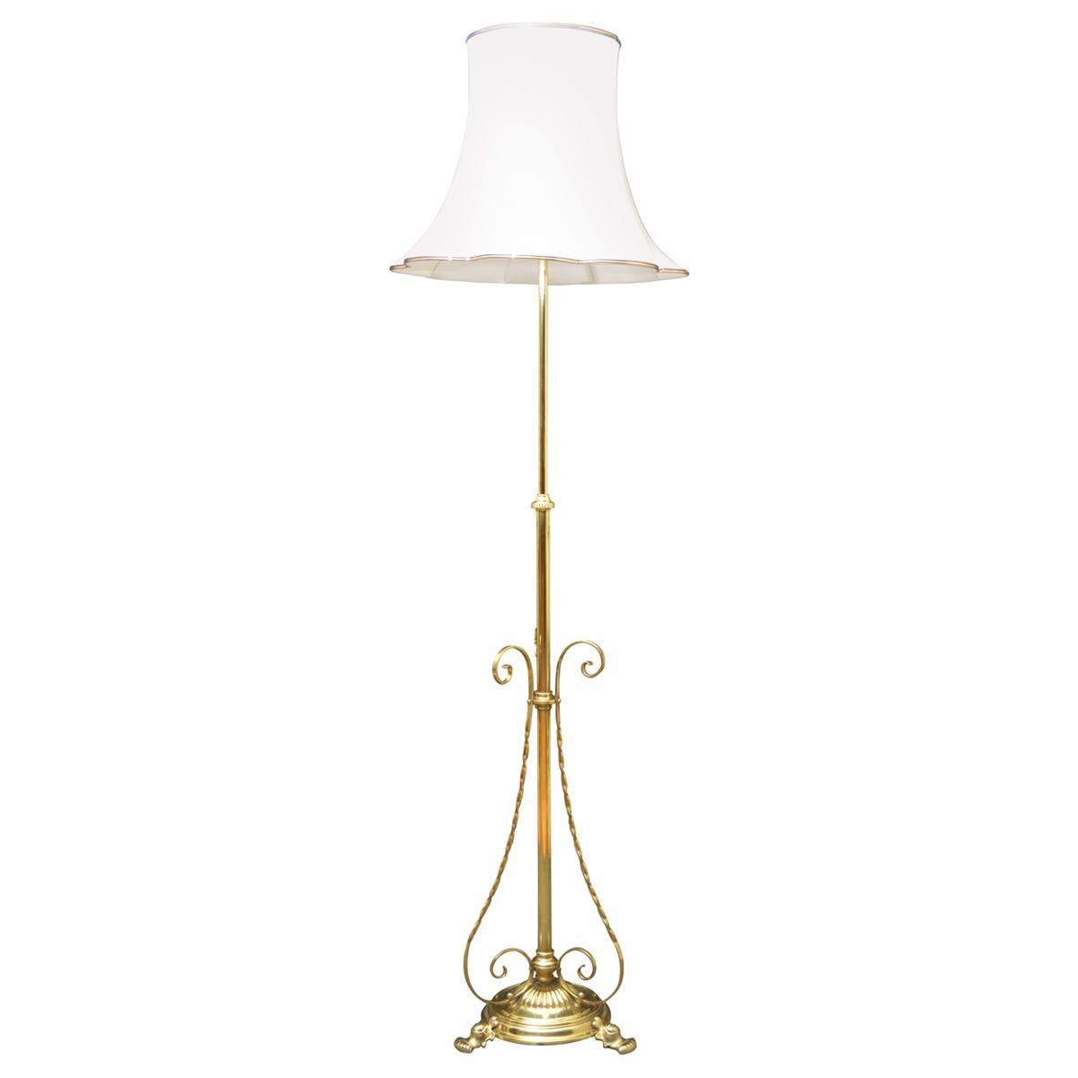 Arts & Crafts Brass Floor Lamp