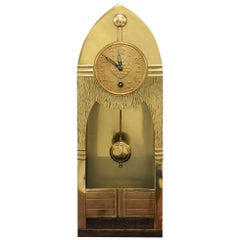 Arts & Crafts Brass Mantel Clock