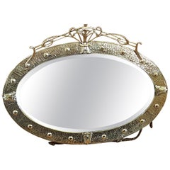 Arts & Crafts Brass Mirror, Keswick School