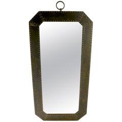 Arts & Crafts Brutalist Copper Framed Mirror