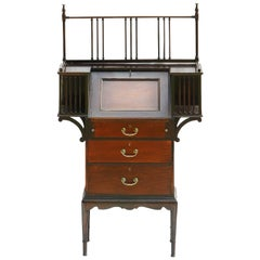 Arts & Crafts Bureau Desk Mahogany English, circa 1910