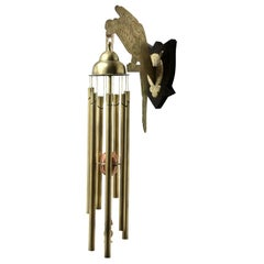 Arts & Crafts Chime Tubular Bells, Brass Wall-Mounted Dinner Gong 'Doorbell'