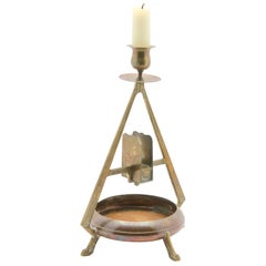 Arts & Crafts Copper and Brass Candleholder, circa 1900