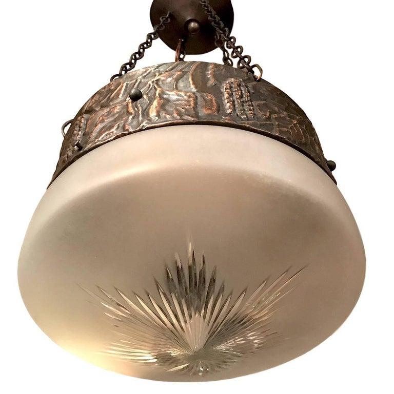 Arts Crafts Copper Light Fixture