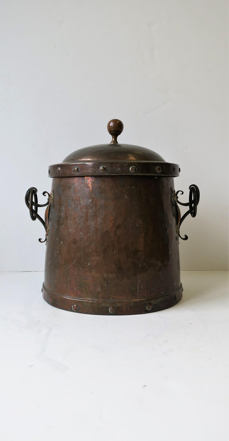 Arts And Crafts Fireplace Pot Or Decorative Vessel For