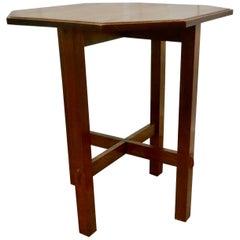 Arts & Crafts Golden Oak Octagonal Occasional Table