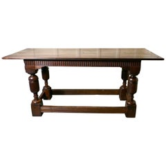 Arts & Crafts Gothic Carved Oak Table